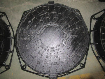 Automatic Line Ductile Iron Manhole Covers Sand Casting Rust Proof D400
